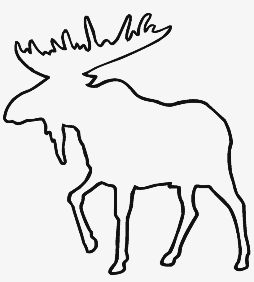Deer Line Drawing Clipart