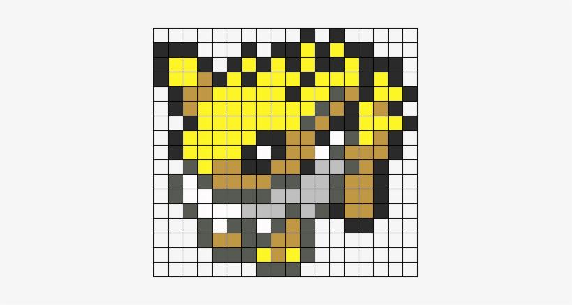 Jolteon Sprite Perler Bead Pattern Bead Sprite Eevee