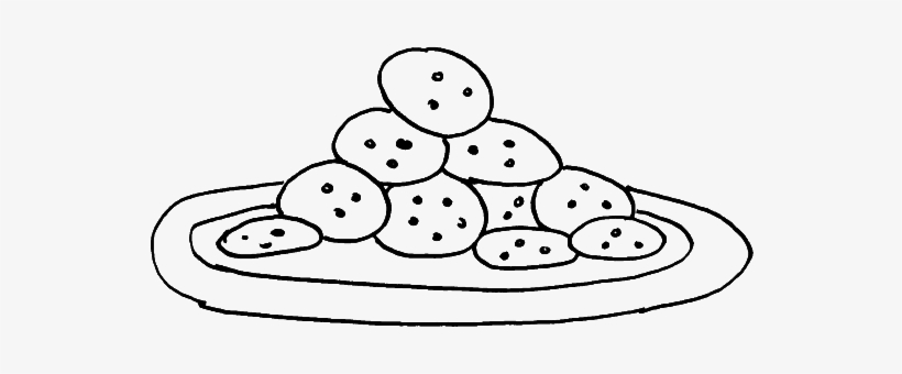 Serves A Plate Of Cookies Coloring Pages Cookie Transparent Png 700x566 Free Download On Nicepng