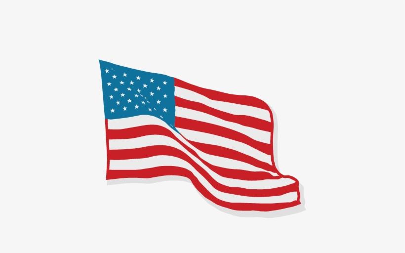 American flag cute. Svg scrapbook cut file