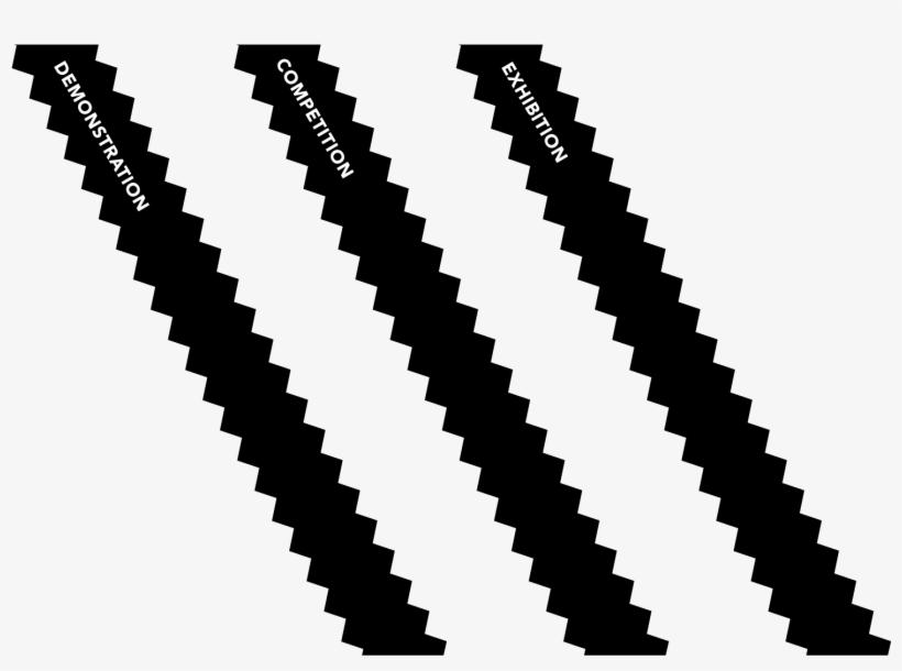 adidas noir stripes png