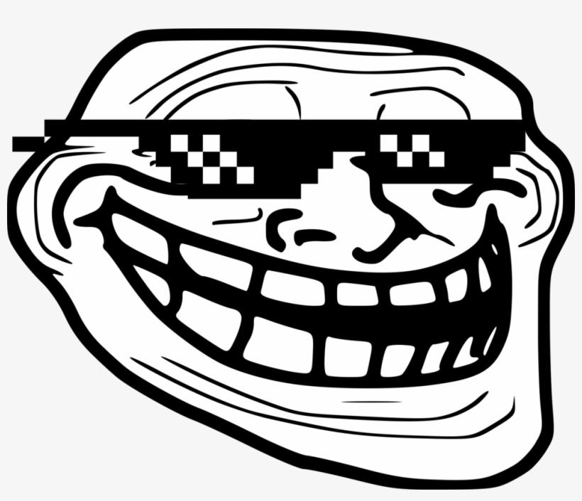 Trollface Deal With It Troll Face Png Transparent Png 991x806 Free Download On Nicepng