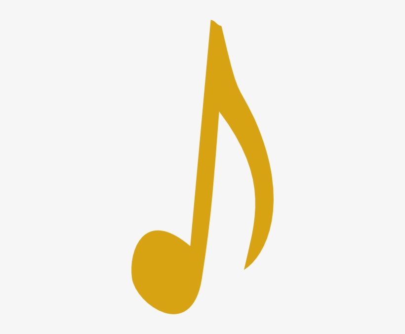 Music notes gold. Clipart golden note png