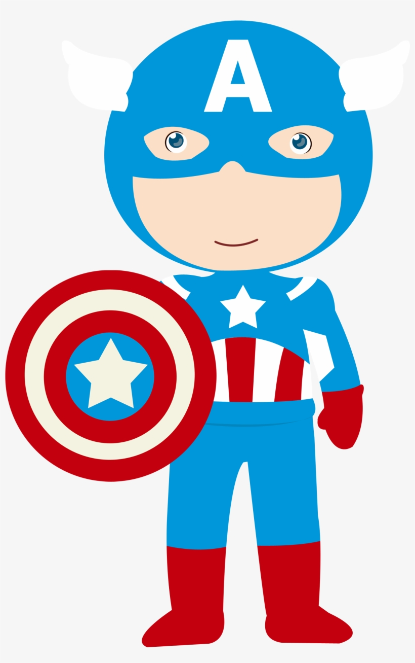Baby Vector Captain America - Avengers Clipart Transparent PNG