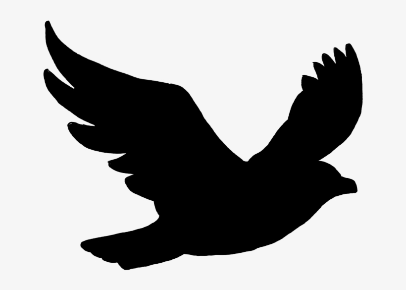 Flying Bird Png - Black Bird Flying Silhouette Transparent