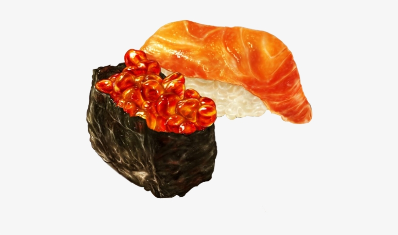 Sushi Food Watercolor Painting Drawing Illustration Sushi Illustration Transparent Png 579x486 Free Download On Nicepng