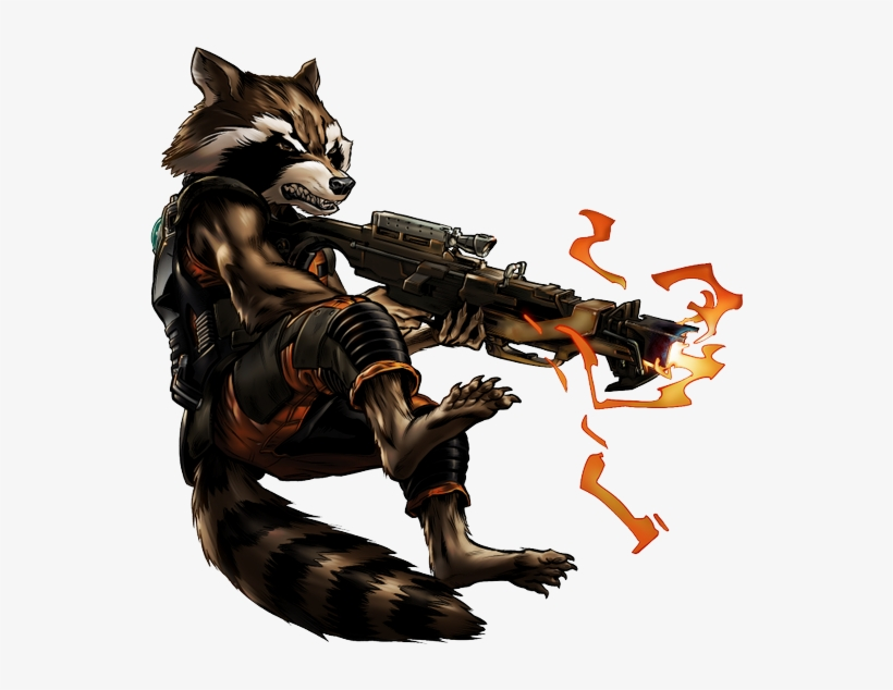 Guardian Rocket Raccoon Portrait Art - Guardians Of The