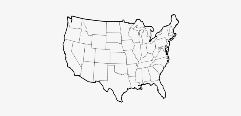 Blank Political Map Of The Us Map Us Outline 13 Clipart - Us Map ...