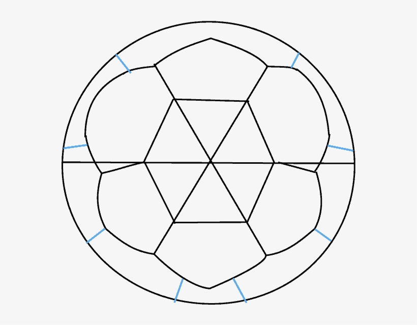 How To Draw Soccer Ball - Drawing Transparent PNG - 678x600 - Free