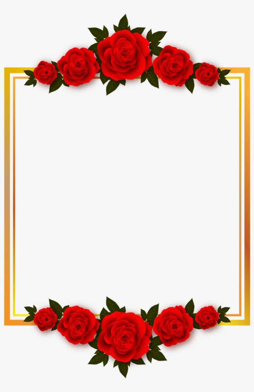 Vacation Rose Flowers Plate Frame Photo Frame Rose Floral Photo Frame Transparent Png 1000x1280 Free Download On Nicepng