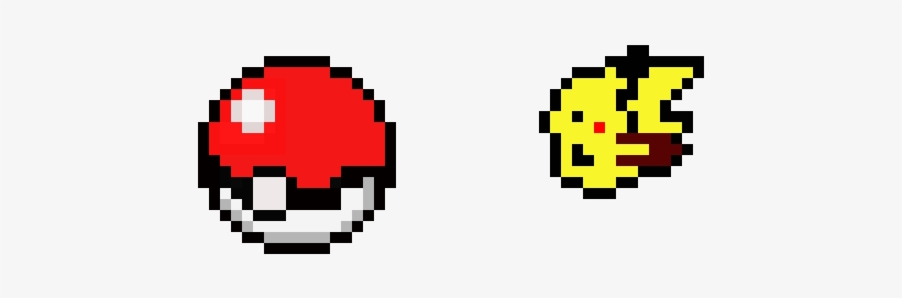 Pokeball And Pikachu Pokeball Pixel Art Png Transparent Png