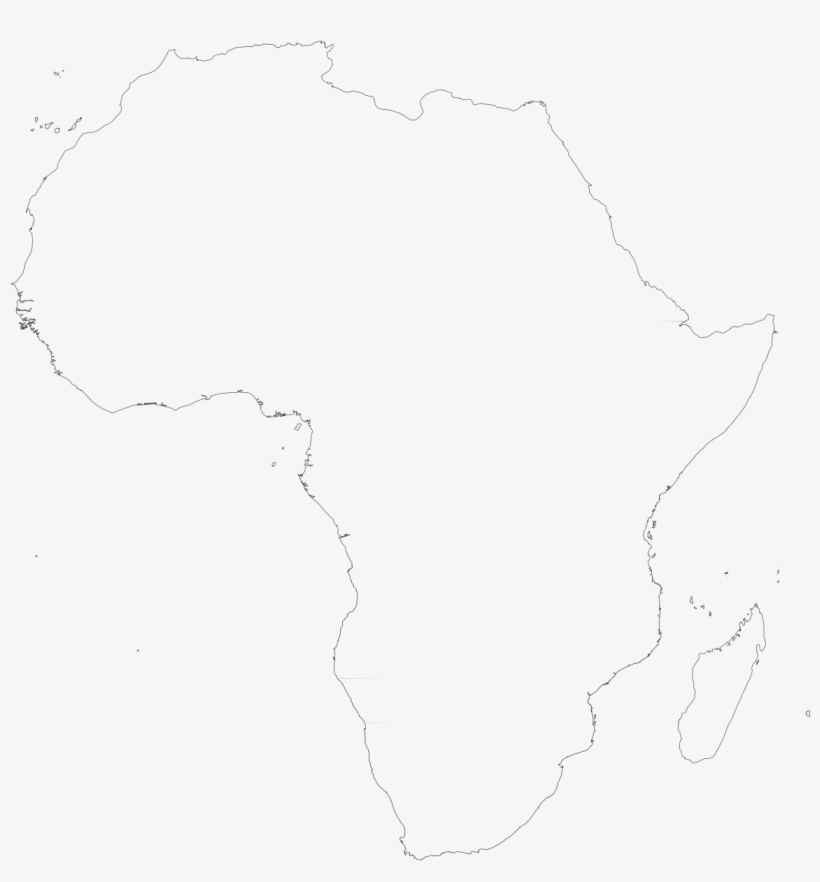 Blank Outline Map Of Africa White Outline Of Africa Transparent