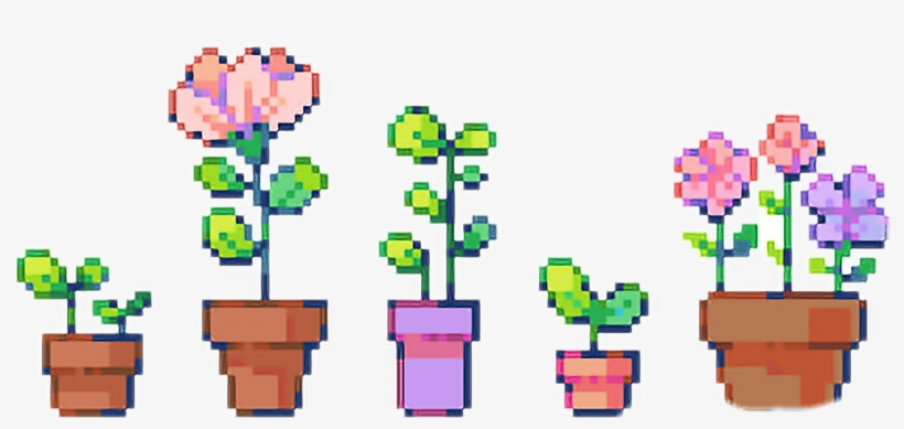 Pixel Aesthetic Plants Green Tumblr Grunge Plant Roses