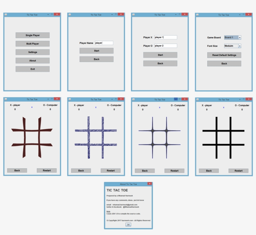 Java Swing Tic Tac Toe Source Code تحميل كود لعبة Tic - Java