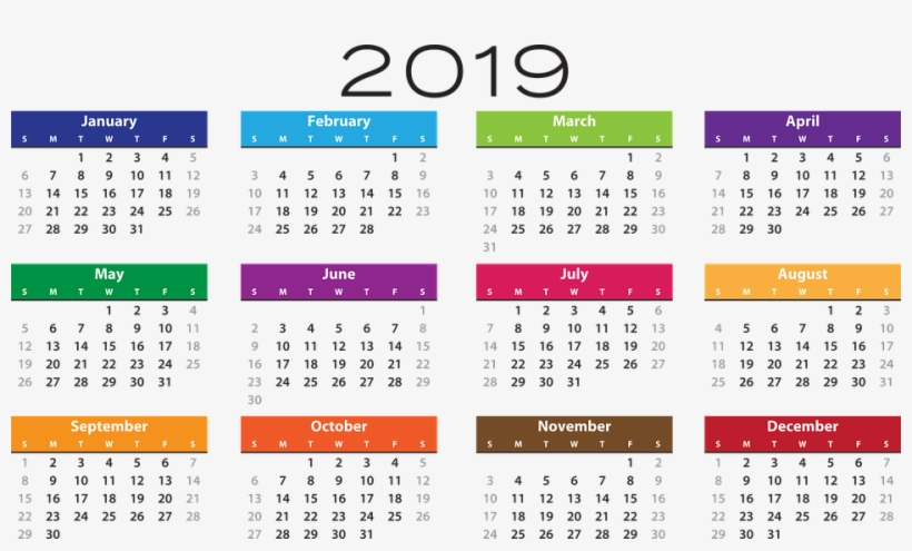 Calendario 206.2019 Calendar Png Pic Calendario 2019 Transparent Png