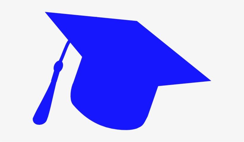 Graduation Hat Silhouette Blue Svg Clip Arts 600 X