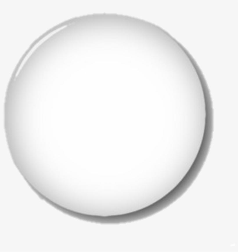 White Button Glass Transparent Circle - Circle Transparent