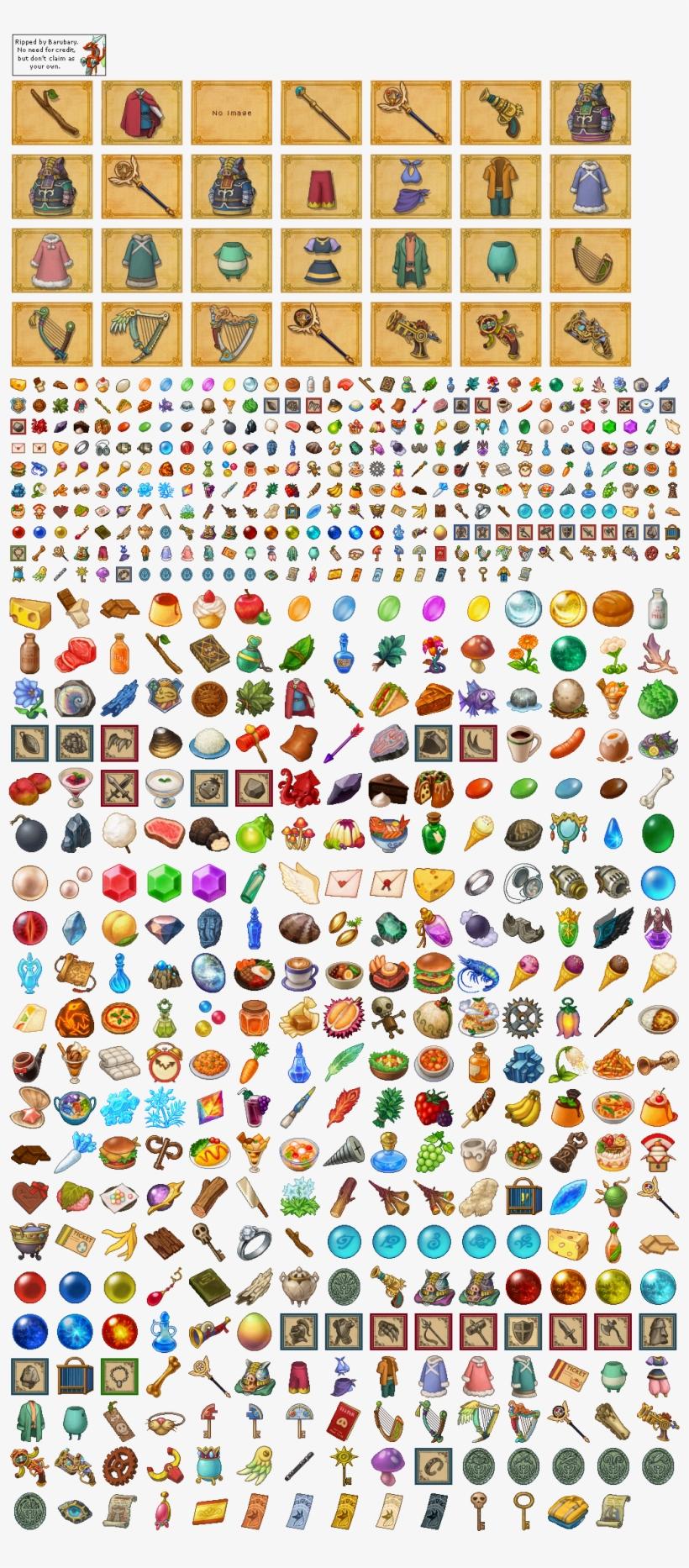 Click For Full Sized Image Item Icons - Ni No Kuni Pixel