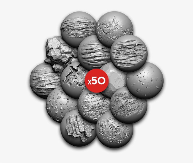 Zbrush Advanced Brushes Pack Rocks Slider Image - Pétanque