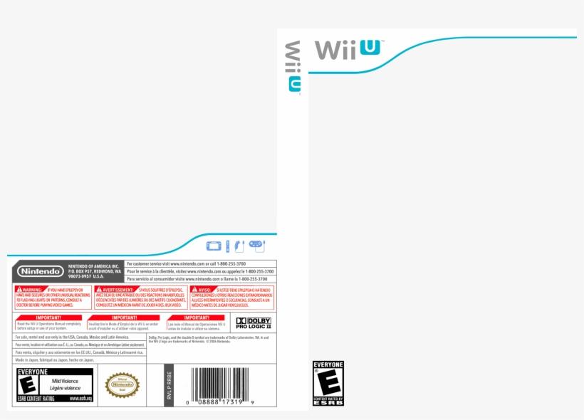 Wii U Template 100036 Wii U Game Cover Template Transparent Png