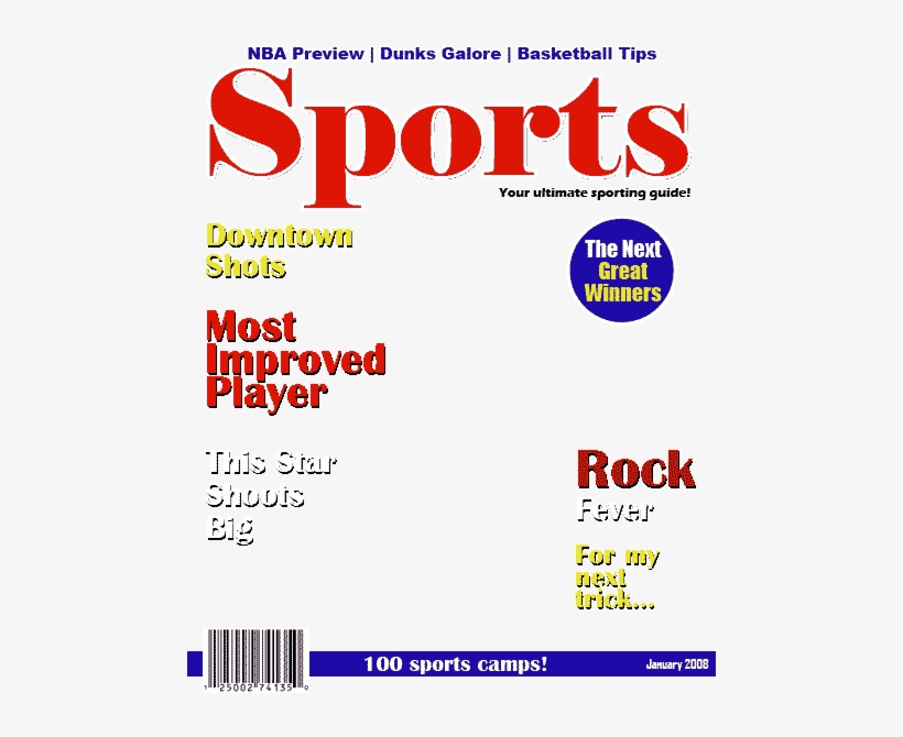 Sports Illustrated Cover Png Sports Magazine Cover Layout