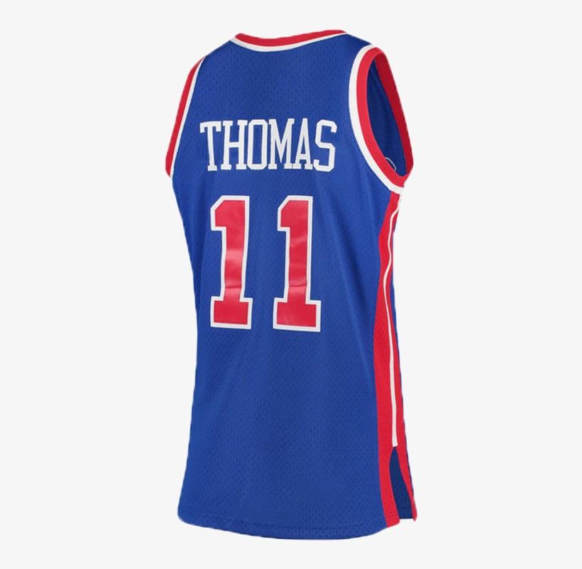 huge discount 67028 7d1a1 Detroit Pistons Isiah Thomas Blue Swingman Jersey - Camiseta ...