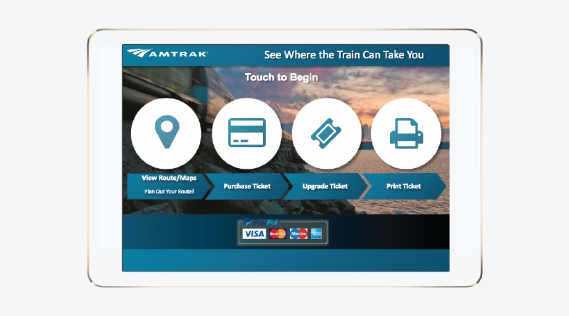Amtrak Kiosk Redesign - Enterprise Software Transparent PNG