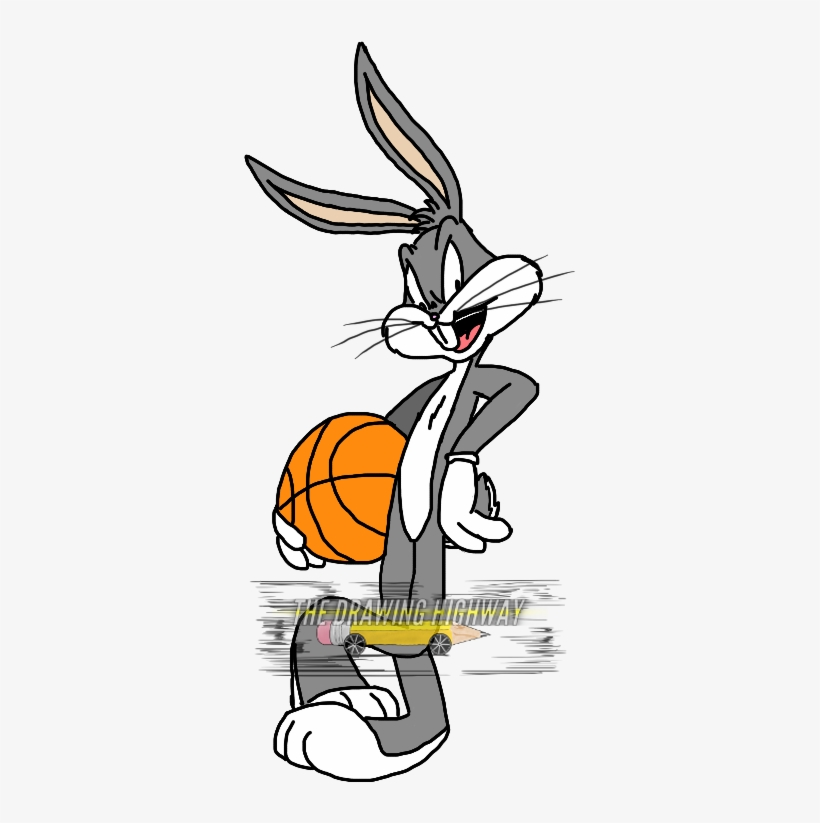 reputable site 165d3 d793c Basketball Clipart Bugs Bunny - Bugs Bunny Basketball Png