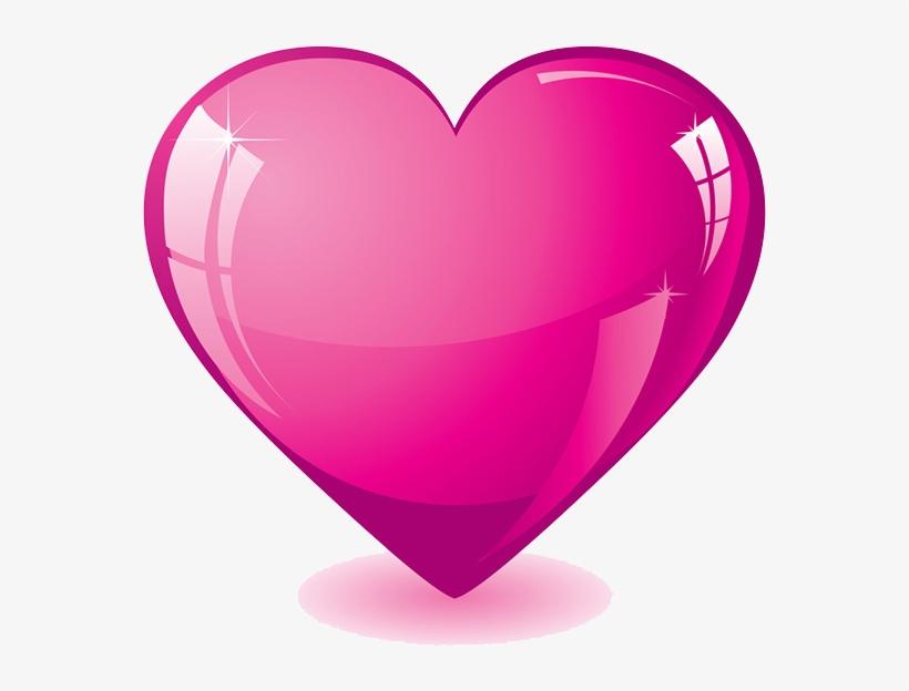 Hot Pink Heart Transparent Background - Pink Heart Clipart ...