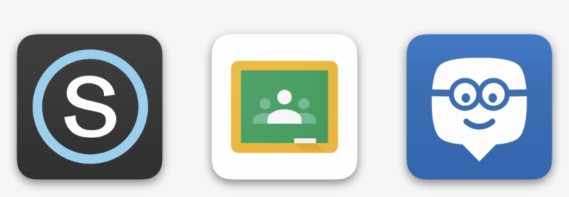 Edmodo0 Google Classroom And Schoology Logos Google Classroom Icon Png Transparent Png 1000x298 Free Download On Nicepng