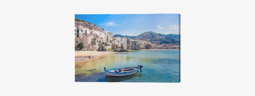 Old Harbor With Wooden Fishing Boat In Cefalu Sicily Poster Todorovic S Beautiful Old Harbor With Wooden Transparent Png 400x400 Free Download On Nicepng