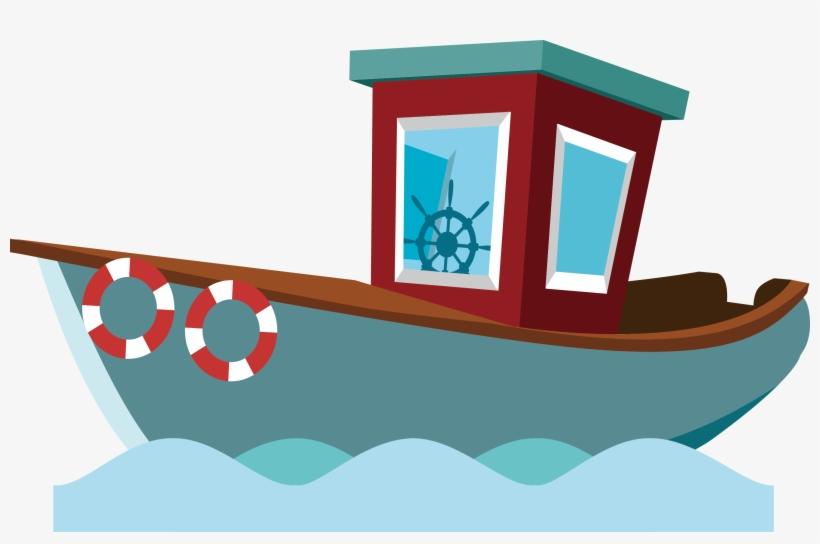 Cartoon Boat Png Fishing Boat Cartoon Transparent Png 2663x1638 Free Download On Nicepng