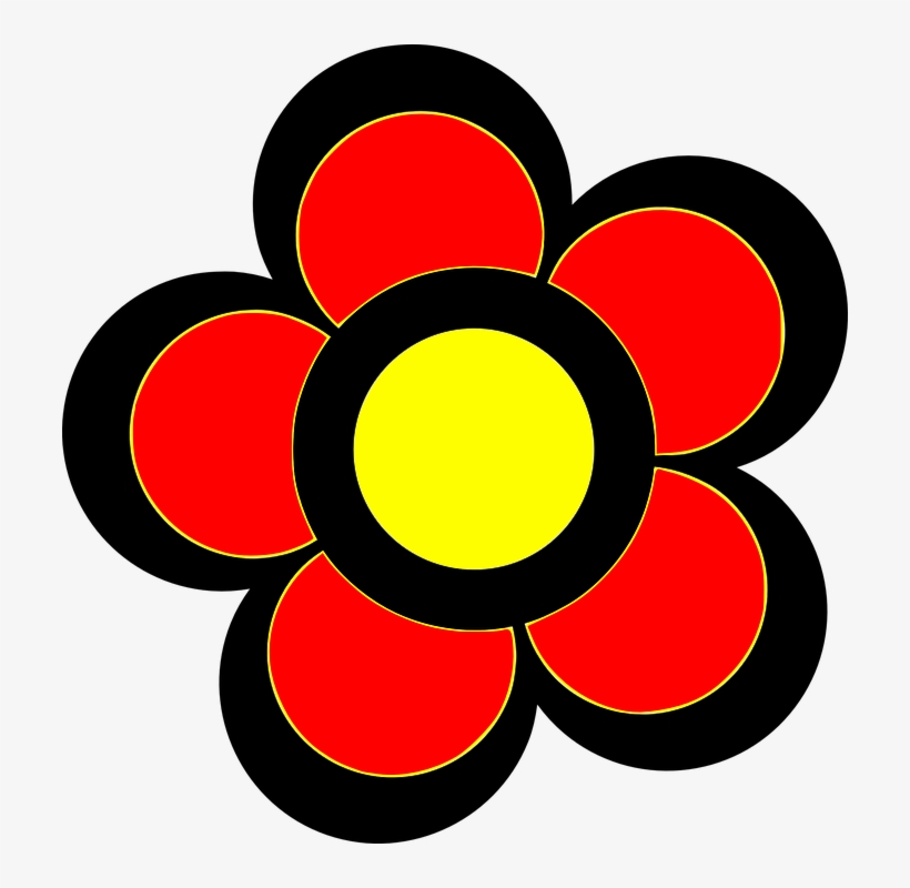 Flower colorful. Red yellow flowers color