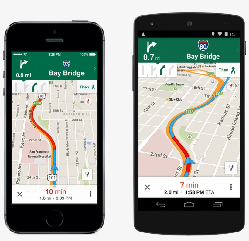 Google's Maps App Features Gps Lane Guidance - Google Maps ... on free google services, free chrome download, free office download,