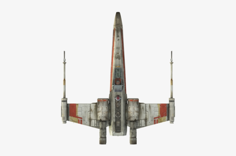 X Wing Top View Star Wars X Wing Top View Transparent Png 442x479 Free Download On Nicepng
