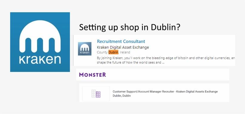 Kraken Exchange Starting In Dublin Job Postings Point