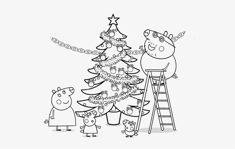 Peppa Pig Birthday Coloring Pages, Item- - Peppa Pig Christmas ...