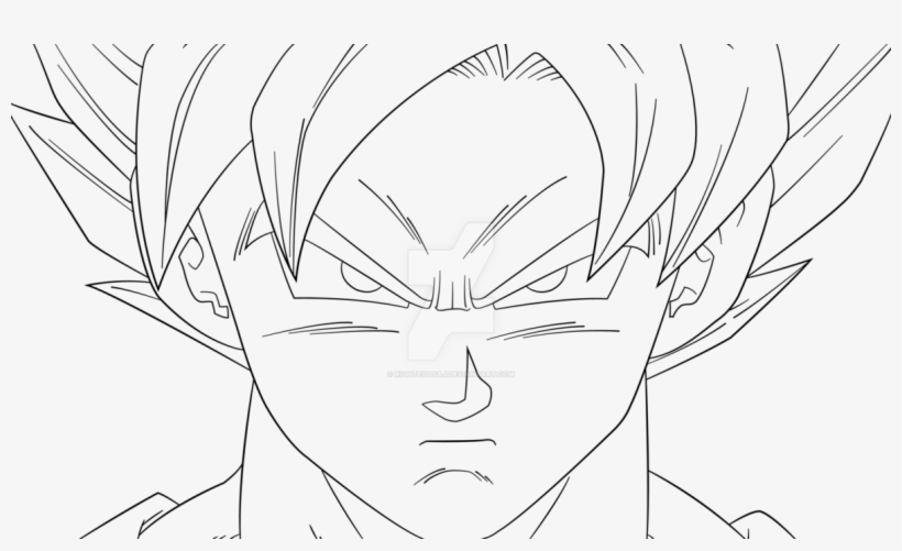 Righteousdesigns Goku Ssgss Easy Drawing Transparent Png