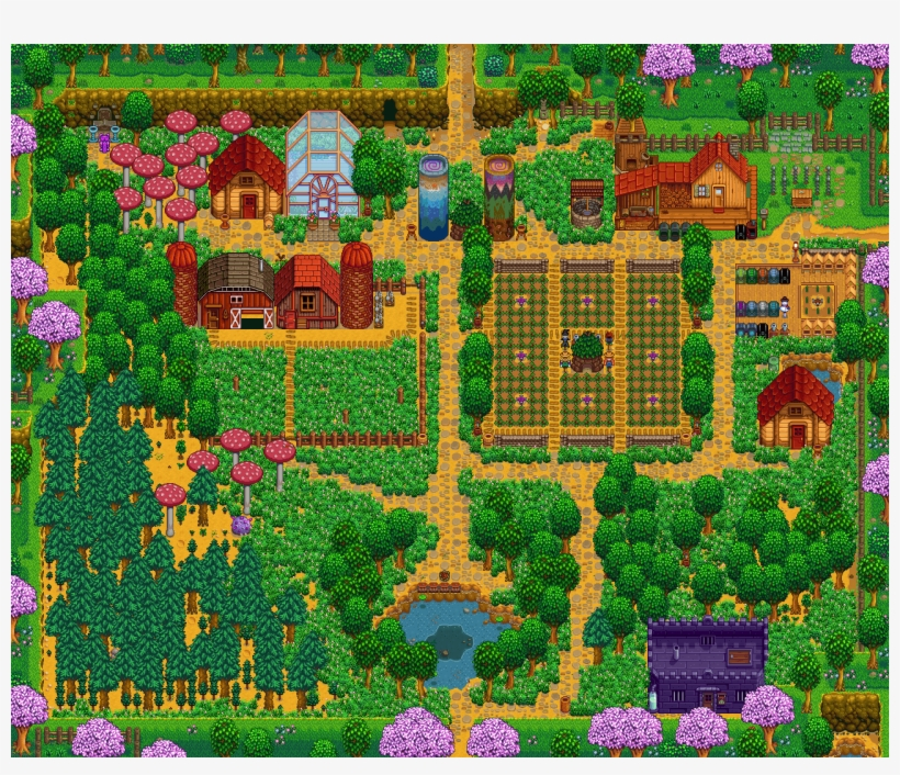 How It Looked In Y3 Spring Http Stardew Valley Switch Farm Layout Transparent Png 1280x1040 Free Download On Nicepng