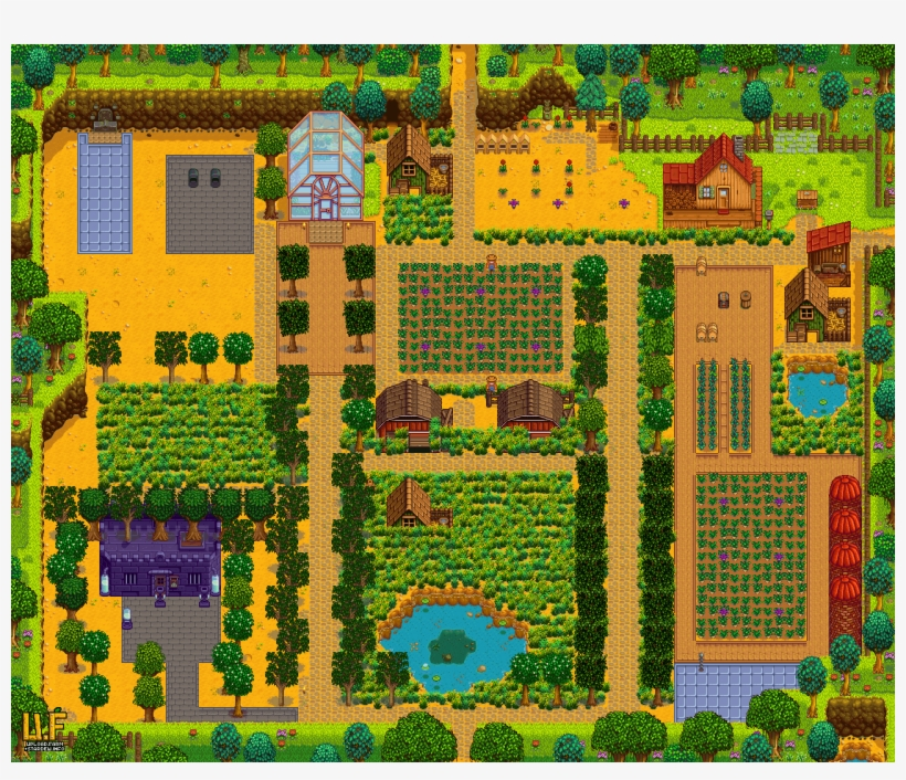 Stardew Valley Planner V2 Stardew Valley Standard Farm Layout Transparent Png 1280x1040 Free Download On Nicepng