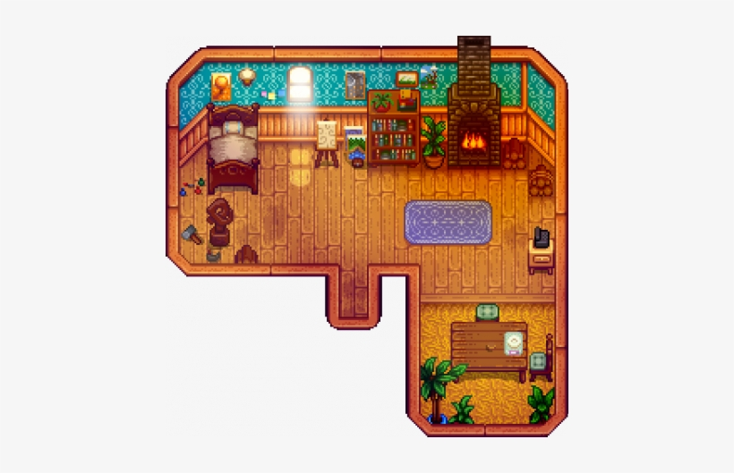 Leah's Cottage Interior - Leah's Cabin Stardew Valley