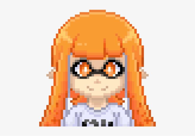 Chibi Inkling Girl Pixel Inkling Girl Pixel Art