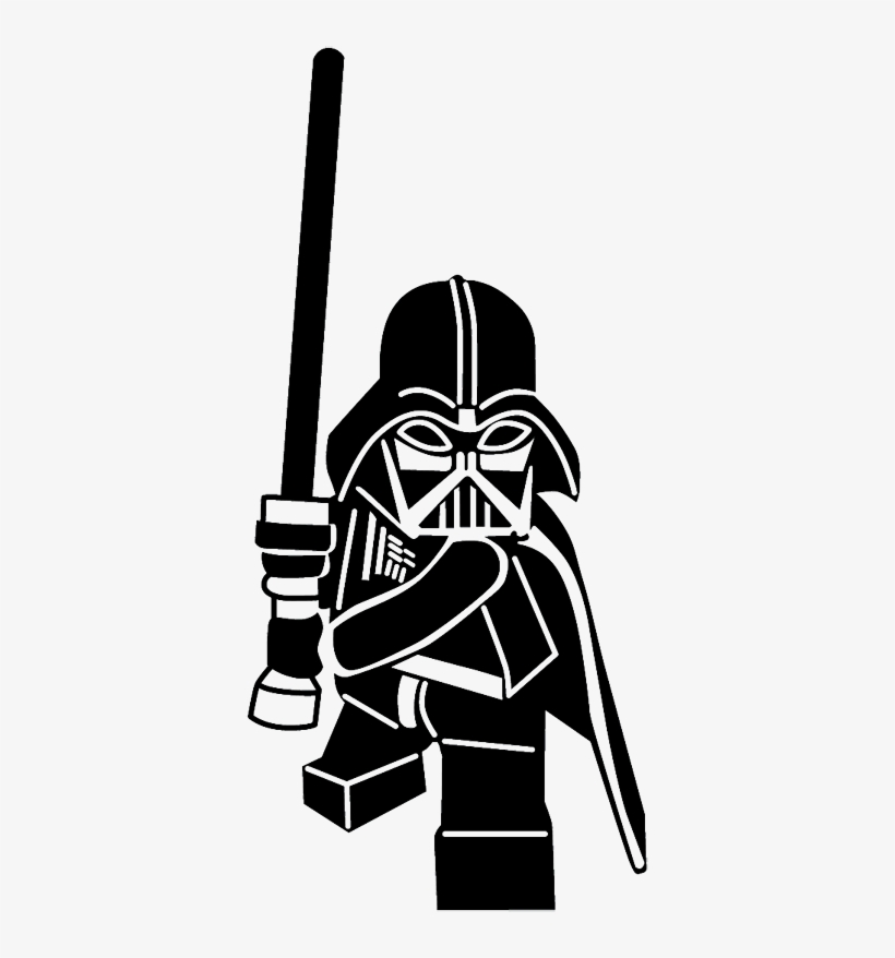 Sticker Figurine Dark Vador Lego Star Wars Silhouette