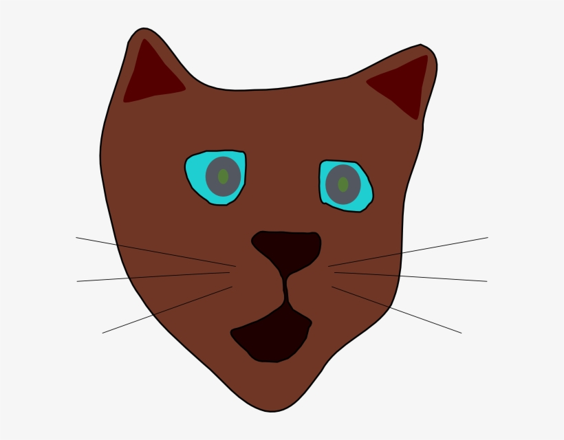 How To Set Use Cat Face Svg Vector Transparent Png 600x560 Free