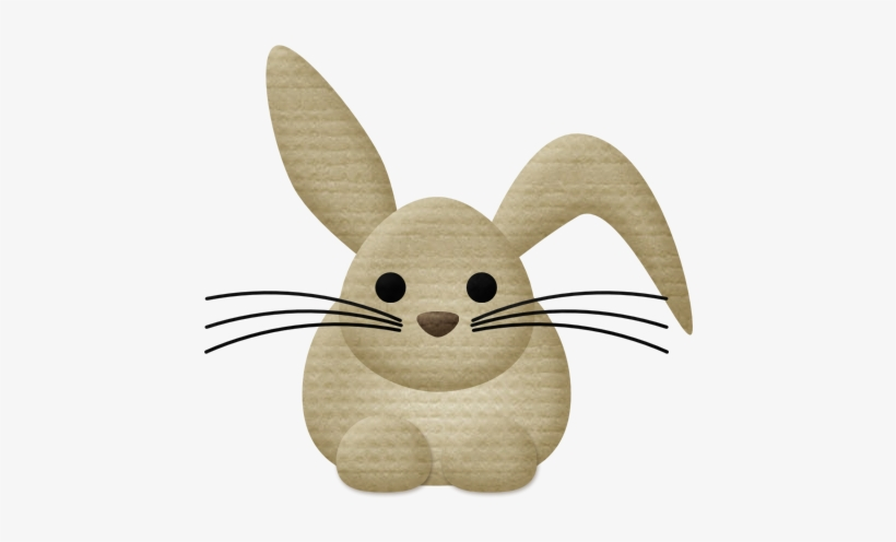 Bunny woodland. Aw animals clip art