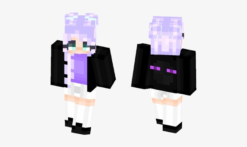 Cute Enderman Sweater Girl - Minecraft Skins Derp Sans