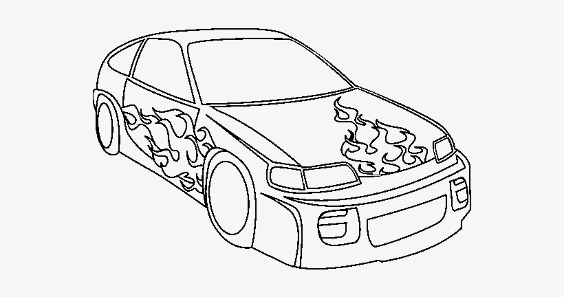 Drawn Flame Race Car Coloring Pages Transparent Png 600x470 Free Download On Nicepng