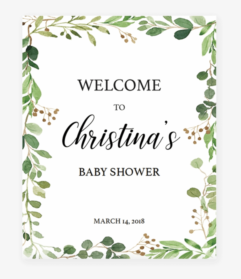 photo about Free Printable Welcome Sign named Boho Child Shower Welcome Indication Printable As a result of Littlesizzle