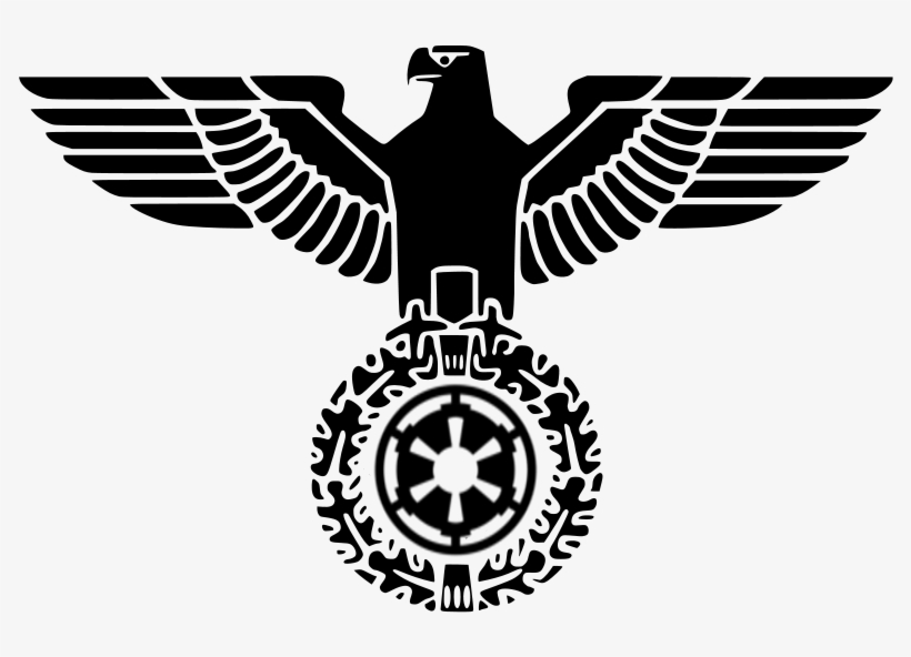 Imperial Eagle Png Svg Black And White Download - German Coat Of