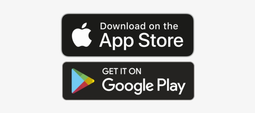 Apple And Play Store Joint Logo - Available On App Store And Google